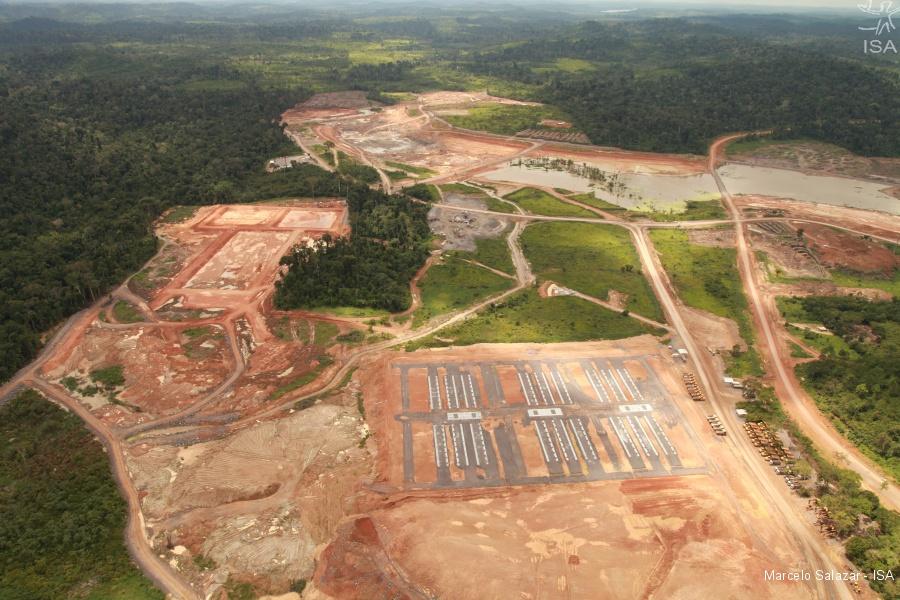 Vista aérea do canteiro de obras da hidrelétrica, 2012 | Marcelo Salazar - ISA